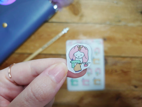 Oh! Good Idea Teedy planner stickers, sewing, sewing machine, hobby stickers, hand drawn stickers for planners