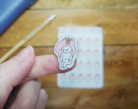 Oh! Good Idea Teedy planner stickers, Quarantine weight, pandemic, weight gain, tummy stickers, hand drawn stickers for planners