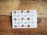 Oh! Good Idea planner stickers, tea lover, tea time stickers, self care, me time, hand drawn stickers for planners