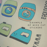 Oh! Good Idea planner stickers, oops stickers, oops bags, misfit, imperfect stickers, hand drawn stickers for planners