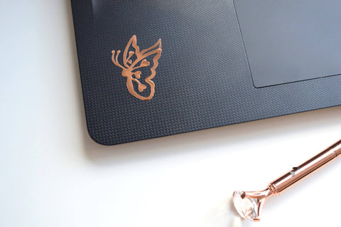 Oh! Good Idea butterfly Vinyl Planner Decal, Rose Gold butterfly Laptop, Yeti Decal, butterfly Vinyl Sticker, Planner Accessories