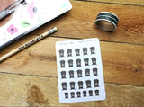 Oh! Good Idea planner stickers, wheelie bin, garbage, rubbish, recycling, kawaii bin stickers, trash can, hand drawn stickers for planners