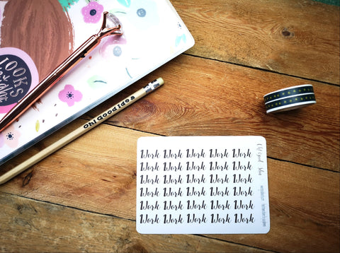Oh! Good Idea planner stickers, script functional stickers, to do, cancelled, work, day off stickers for planners