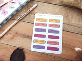 Oh! Good Idea planner stickers, to do script stickers, planner headers, reminders, productivity, hand drawn stickers for planners, Fall