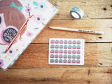 Oh! Good Idea planner stickers, train, underground, commute, travelling stickers, hand drawn stickers for planners