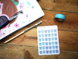 Oh! Good Idea planner stickers, laundry, cleaning, washing machine, chore stickers, hand drawn stickers for planners