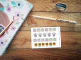 Oh! Good Idea planner stickers, weight loss, diet, slimming world stickers, fitness, scales stickers, hand drawn stickers for planners