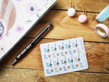 Oh! Good Idea planner stickers, gardening, yard work, planting, spring stickers, hand drawn stickers for planners