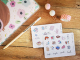 Oh! Good Idea planner stickers, new years resolution, declutter, goal tracker, self care stickers, hand drawn stickers for planners