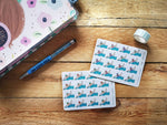 Oh! Good Idea planner stickers, swimming, swim beach, pool stickers, mum life, hand drawn stickers for planners