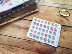 Oh! Good Idea planner stickers, ballet, dance, ballerina, mum life stickers, hand drawn stickers for planners