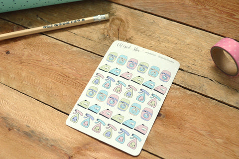 Oh! Good Idea planner stickers, cleaning, laundry, ironing, kawaii chores stickers, hand drawn stickers for planners