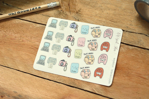 Oh! Good Idea planner stickers, work, pack orders, post office run stickers, stickers, hand drawn stickers for planners