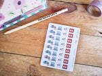 Oh! Good Idea planner stickers, filming, youtube, vlogging, social media stickers, hand drawn stickers for planners