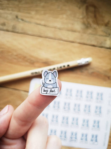 Oh! Good Idea planner stickers, dog, pet care stickers, dog lover, hand drawn stickers for planners