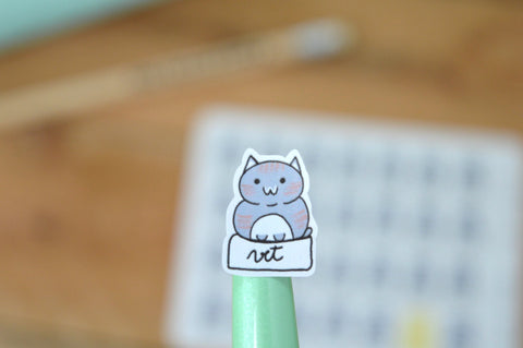 Oh! Good Idea planner stickers, kawaii cat, pet care, hand drawn stickers for planners