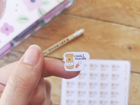 Oh! Good Idea planner stickers, medicine, pill bottle, prescription stickers hand drawn stickers for planners