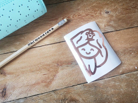 Oh! Good Idea Teedy Character Vinyl Planner Decal, Rose Gold Laptop, Yeti Decal, Vinyl Sticker, Planner Accessories