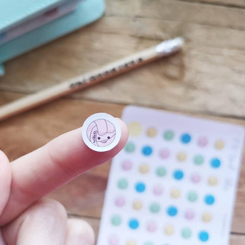 Oh! Good Idea planner stickers, netball, sports, kawaii ball stickers, hand drawn stickers for planners