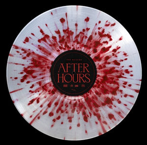 Weeknd, The 'After Hours' CLEAR WITH RED SPLATTER DOUBLE VINYL