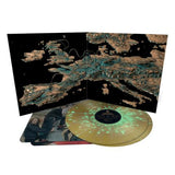 King Gizzard & The Lizard Wizard 'Chunky Shrapnel' GOLD WITH GREEN SPLATTER DOUBLE VINYL