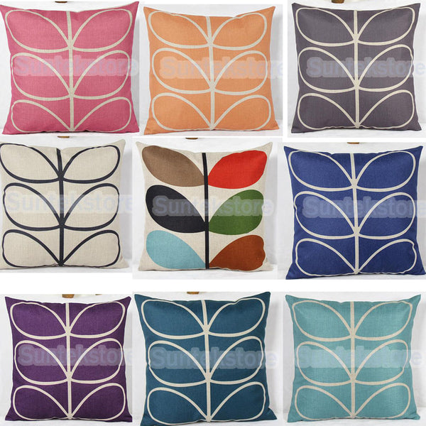 6-Leaf Grass Cotton Linen Throw Pillow Case Cushion Cover Bed Sofa Cafe Decor
