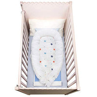 Mamibaby Baby Lounger Baby Nest 100% Soft Cotton Newborn Lounger Perfect for Co Sleeping, Stars Portable Crib Baby Bed Bassinet Snuggle Bed for Travel, Suitable for 0-12 Months
