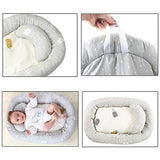 BELUPAI Baby Bassinet for Bed,Newborn Infant Bassinet Baby Nest Snuggle Bed Crib Mattress Baby Sleeping Nest Pillow Bed Baby Lounger for Kids Nursery Bedroom Living Room Travel(29x20inch)