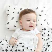 Laixiulife Newborn Pillow for Sleeping Baby Pillow Head Shaping Breathable 3Dimentional Air Mesh Organic Cotton to Washable Protection for Flat Head Syndrome (White)