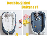 Brandream Baby Nest Bed,Double-Sided Babynest,Portable Crib Bed,Co Sleeping,Snuggle Nest, Cocoon, Baby Lounger, Baby Positoner, Pot,Space Themed
