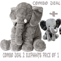 Sooften Stuffed Elephant Plush Toy 24 inch/60cm Gray