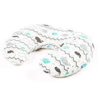 Stretchy Nursing Pillow Covers-2 Pack Nursing Pillow Slipcovers for Breastfeeding Moms,Ultra Soft Snug Fits On Infant Nursing Pillow,Elephant & Whale