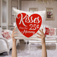 Asamour 4 Pack Red White Warm Letters Throw Pillow Covers Vintage Wood Sweet Love Lettering Cotton Linen Cushion Cover Pillow Case for Valentine's Day/Mother's Day 18 inches