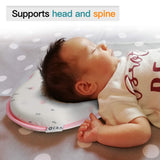 E-A Baby Pillow Preventing Flat Head Syndrome, Head Shaping for Infant, Peacefuly Sleep for Newborn, Cute Breathable and Soft Cover (White)