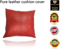 Leather Lovers 100% Lambskin Leather Pillow Cover - Sofa Cushion Case - Decorative Throw Covers for Living Room & Bedroom - 20x20 Inches - Antique Brown Pack of 1
