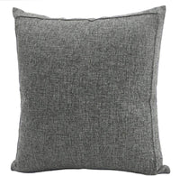 Jepeak Burlap Linen Throw Pillow Cover Cushion Case Farmhouse Modern Decorative Solid Square Thickened Pillow Case for Sofa Couch (24 x 24 inches, Dark Grey)