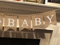 OH Baby Banner & Balloon Set - Pre-Strung Assembled Burlap Garland - 6 Blue Gold & White Balloons - Its A Boy with Hearts - Baby Shower Gender Reveal Decor by Jolly Jon ®