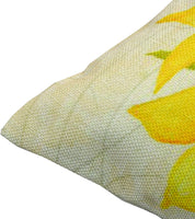 TEALP Sunflower Throw Pillow Covers Linen Cotton Soft Decorative Pillow Case Home Sofa Cushion Set, 2-Pack Square Design (18x18 inch)