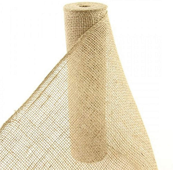 "12""x10yd Natural Loose Weave Burlap Ribbon"