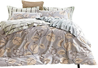 Swanson Beddings Daisy Silhouette Reversible Floral Print 5-Piece 100% Cotton Bedding Set: Duvet Cover, Two Pillowcases and Two Pillow Shams (King)