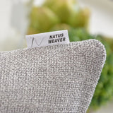 "NATUS WEAVER 2 Packs Soft Blended Linen Burlap Pillowcase Decorative Throw Pillow Cover Caddice Hand Feel Cushion Covers for Couch Sofa Bench, 18"" x 18"", Grey"