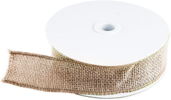 "10 Yard Burlap Natural Color Fabric Ribbon Roll for Arts & Crafts Homemade DIY Projects, Event Decorations by Super Z Outlet (1.5"" Inch)"