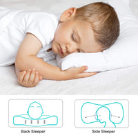 "ZPECC Toddler Pillows with Pillowcase -Hypoallergenic Baby Pillow for Sleeping Napping 13""x18"", Machine Washable, Soft 100% Organic Cotton Kid Pillow Cover for Travel, Toddler Cot, Bed Set"