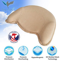 Classy Eagle Baby Pillow 3D Air Mesh Organic Memory Foam | Baby Head Shaping for Newborn | Prevents Flat Head Syndrome & Plagiocephaly | Head & Shoulder Support Perfect for Bed & Stroller