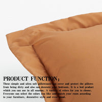 NTBAY King Pillow Shams, Set of 2, 100% Brushed Microfiber, Soft and Cozy, Wrinkle, Fade, Stain Resistant (Pale Orange, King)