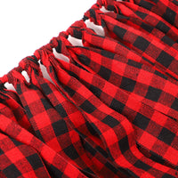 Aneco 1 Pack Buffalo Plaid Tassel Garland Buffalo Plaid Banners Rag Tie Banners Rustic Banner for Wall Decoration, Party, Christmas 6.7 Feet