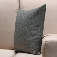 Jepeak Burlap Linen Throw Pillow Cover Cushion Case, Farmhouse Modern Decorative Solid Square Thickened Pillow Case for Sofa Couch (16 x 16 inches, Dark Grey)