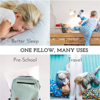 Toddler Pillow - Soft Hypoallergenic - Best Pillows for Kids! Better Neck Support and Sleeping! They Will Take a Better Nap in Bed, a Crib, or Even on the Floor at School! Makes Travel Comfier!