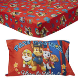 Paw Patrol Toddler Fitted Sheet and Pillow Case Set, Red