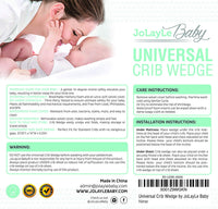 JoLayLe Baby Crib Wedge for Reflux - Baby Wedge Sleep Positioner for Better Baby Sleep, Extra Soft Washable & Waterproof Cover - White Baby Wedge Pillow